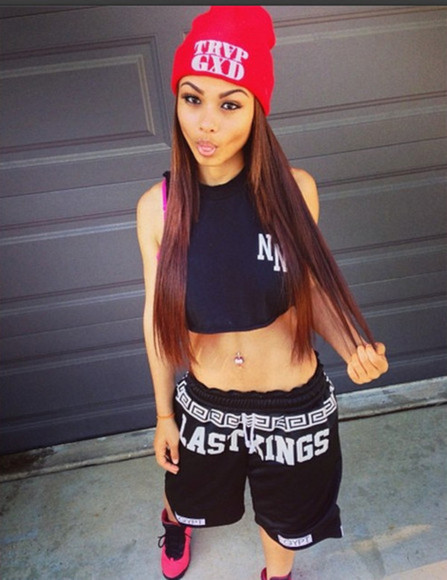 shorts high waisted short crop tops t-shirt beanie air jordan swag hat blouse