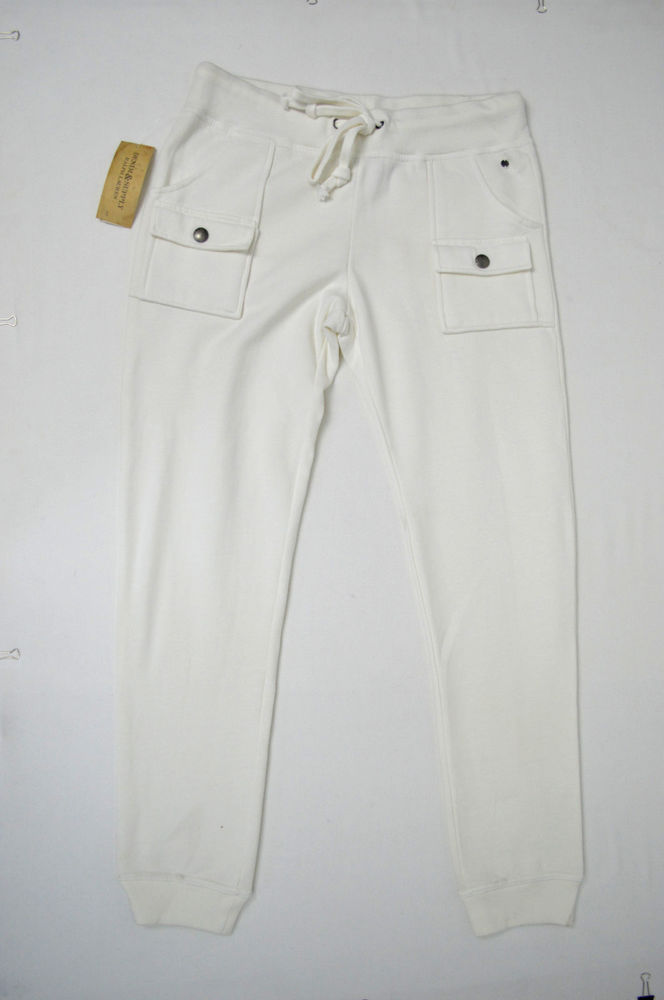 DENIM & SUPPLY RALPH LAUREN NWT WOMENS OFF WHITE JOGGER SWEATPANTS SIZE: MEDIUM