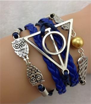 Navy owl bracelet set · forgotten magic · online store powered by storenvy