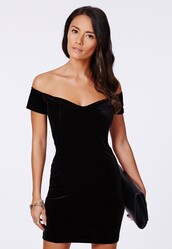 dress,bardot neck,bardot neck dress,black,velvet,party dress,bardot dress,bardot,black dress,short dress,sexy dress,mini dress,little black dress,bodycon dress,bodycon