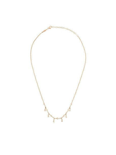 Jacquie Aiche rose gold rose women necklace gold grey metallic jewels