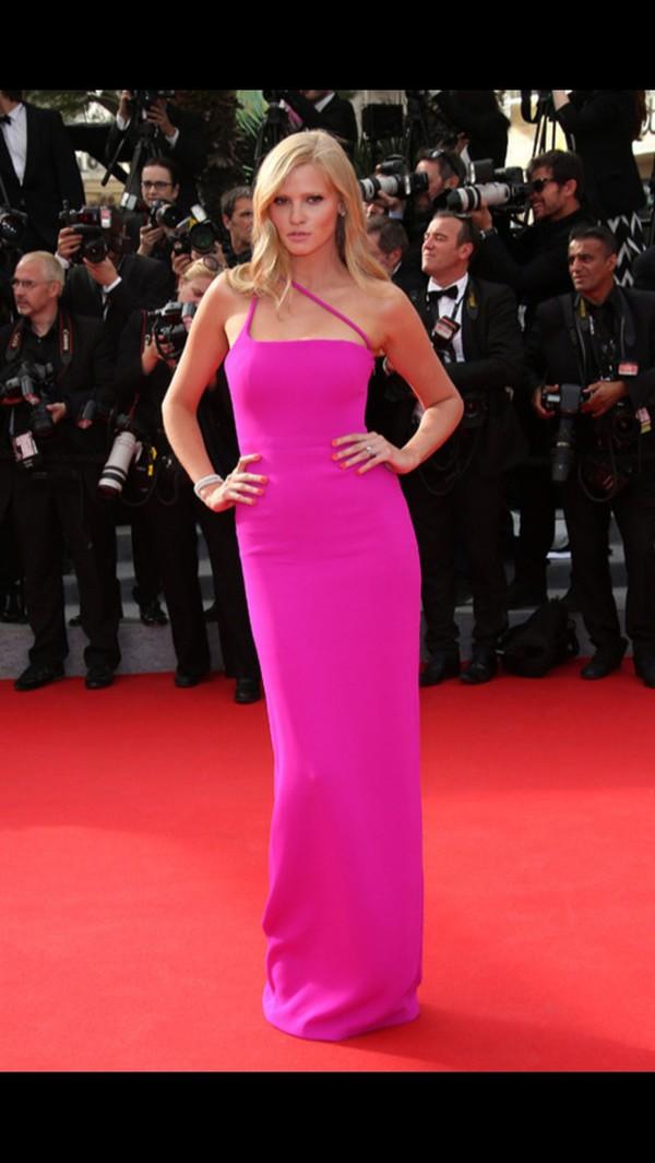 dress fucsia dress long prom dress pink dress cool girl style cool style prom dress