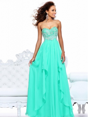 Buy Alluring A-line Sweetheart Floor Length Prom Dress under 300-SinoAnt.com