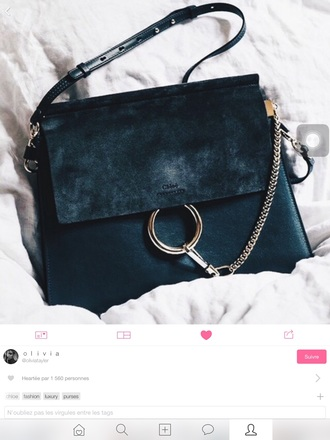 bag chloé black leather chloe bag black bag