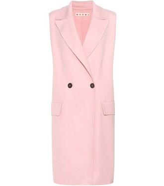 vest wool pink jacket