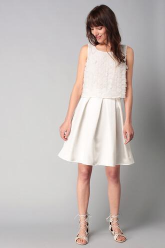 dress naf naf white dress crop tops graduation dress wedding