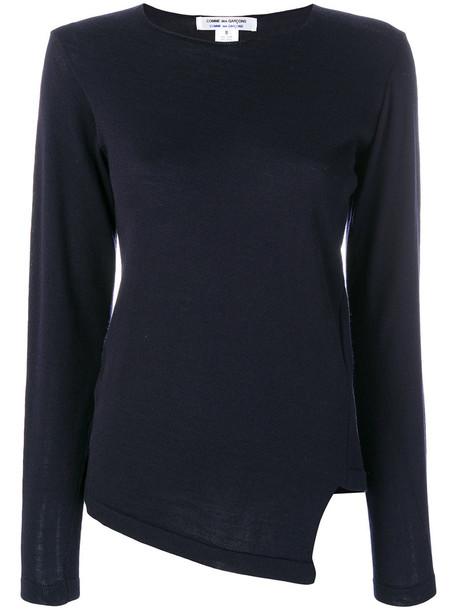 pullover women blue wool sweater