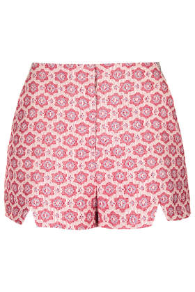 Premium Folk Tile Shorts - Shorts - Clothing - Topshop