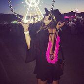dress,black,lovesadores,summer,beach,beach dress,ss16,coachella,coachella dress,tassel,black dress,pink,open back,mini dress