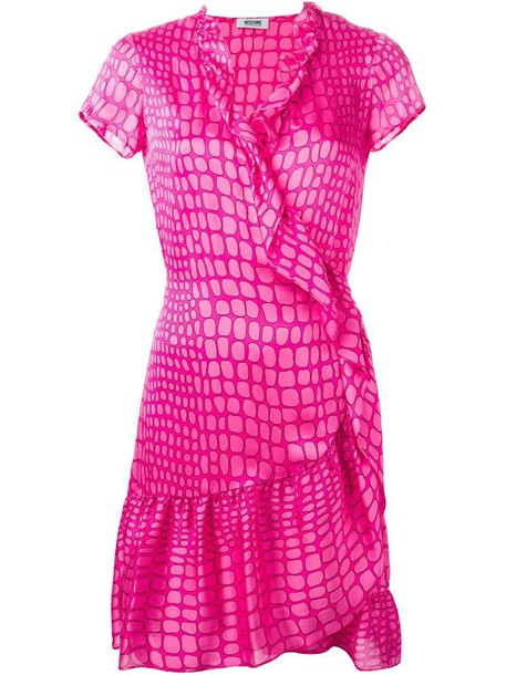 Moschino Cheap & Chic dress wrap dress print purple pink