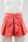 Foxx foe — betty bow shorts in coral