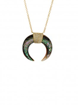 Jacquie Aiche - 14k Small Horn Pendant Necklace - at - London Jewelers