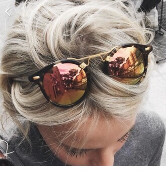 sunglasses grunge hipster blonde hair tumblr girl beautiful