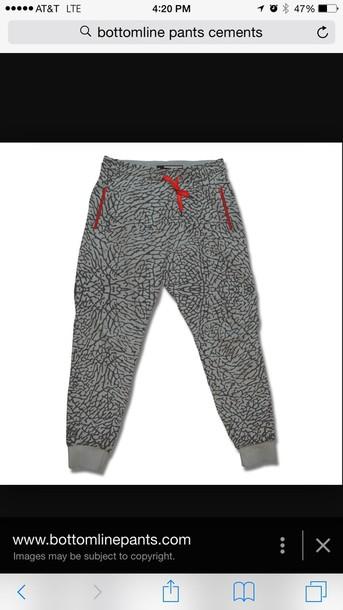 pants joggers pants cement