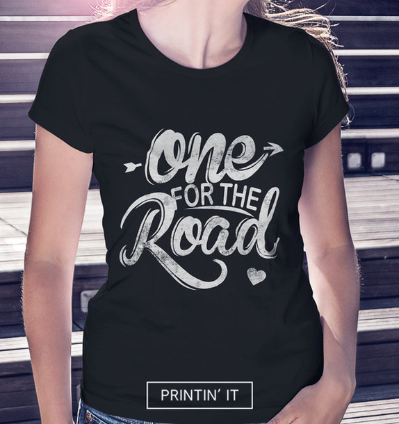 black t-shirt arctic monkeys tumblr girl girl girly t-shirt one for the road typography t-shirt shirt