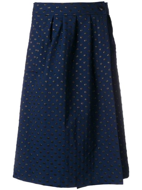 ESSENTIEL ANTWERP skirt midi skirt metallic women midi blue
