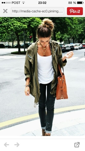 jacket fall outfits army green jacket khaki