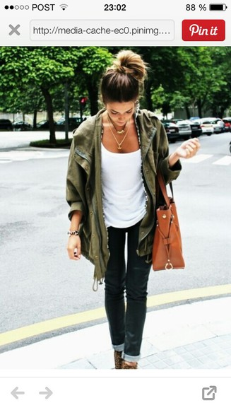 fall outfits jacket khaki army green jacket