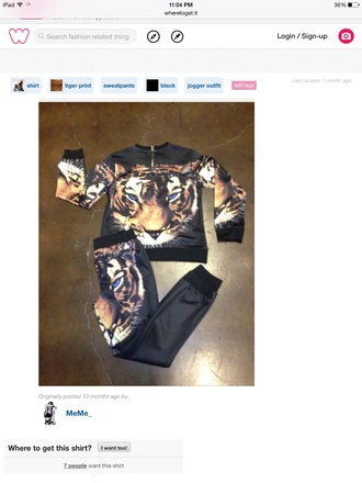 pants tiger print