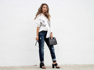 different cands blogger shirt jeans shoes