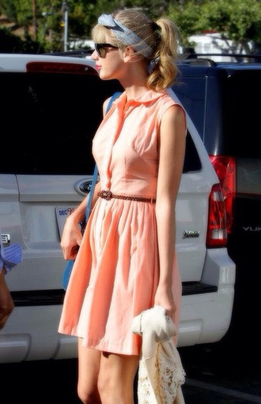 dress pink pink dress taylor swift peach dresses