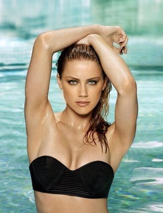 swimwear bikini top amber heard
