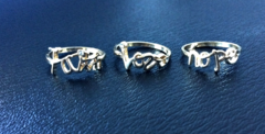 Hope/Faith/Love Ring Set - Trunk Of Charms