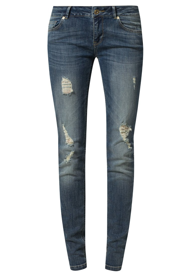 Supertrash PARADISE - Jeans Slim Fit - dark blue ripped - Zalando.de