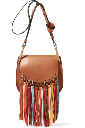 bag shoulder bag leather light brown