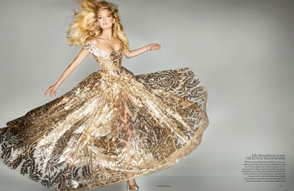 vivienne westwood dress gold gown 2012 dress