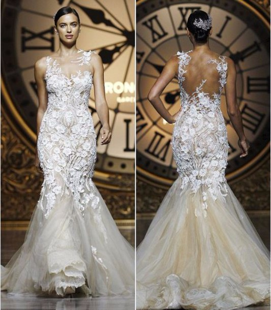 dress, gown, prom dress, lace, lace dress, white lace dress, white ...