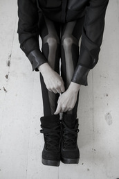 shoes,girl division,black,cross leggings,sneakers,laces,platform shoes,grey,combat boots,pants