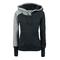 Casual european style split joint cotton slim hoodie on luulla