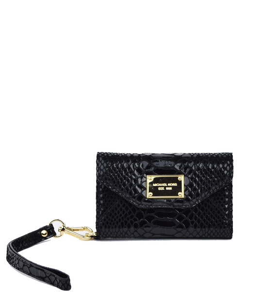 Michael Kors Wallet Clutch Black Python Case for iPhone | Emprada