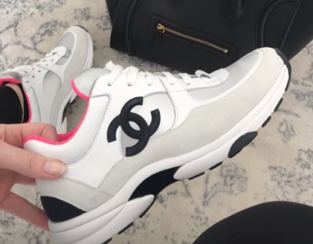 575ff85f2abff9 shoes chanel sneakers chanel trainers sports shoes trainers white pink  black chanel sneakers