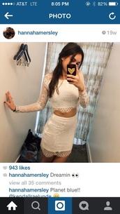 dress,white,lace,two-piece,twin-set