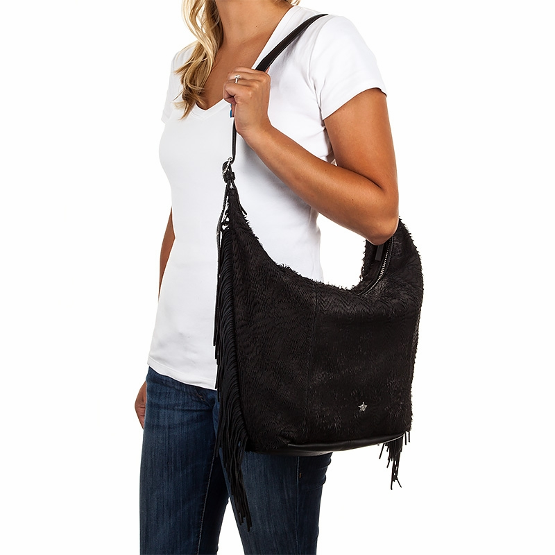 Ash Bo Womens Hobo Black Leather 124007 (001)