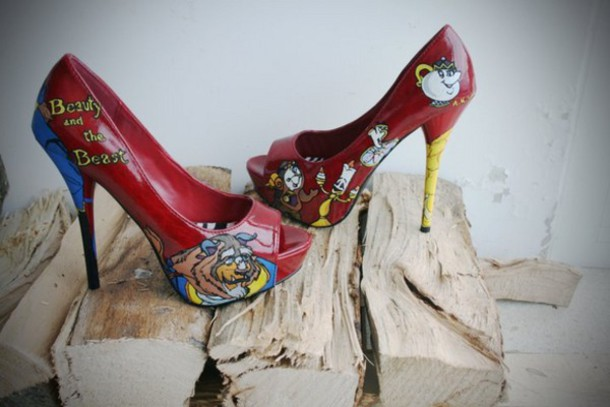 Beauty And The Beast High Top Shoes