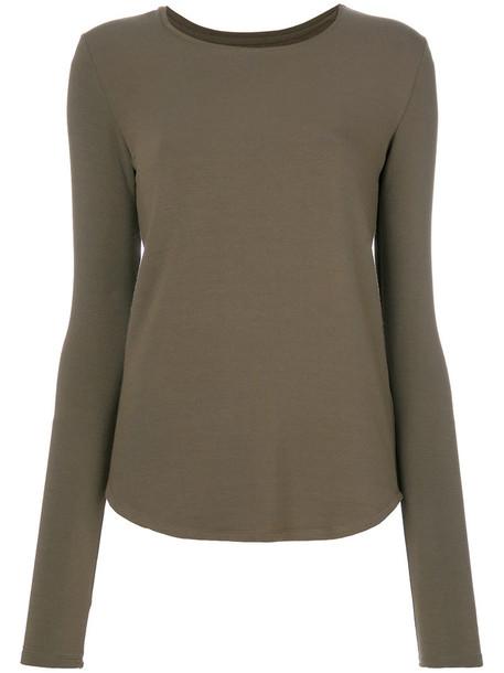 Majestic Filatures - long-sleeved T-shirt - women - Viscose/Spandex/Elastane - 3, Green, Viscose/Spandex/Elastane