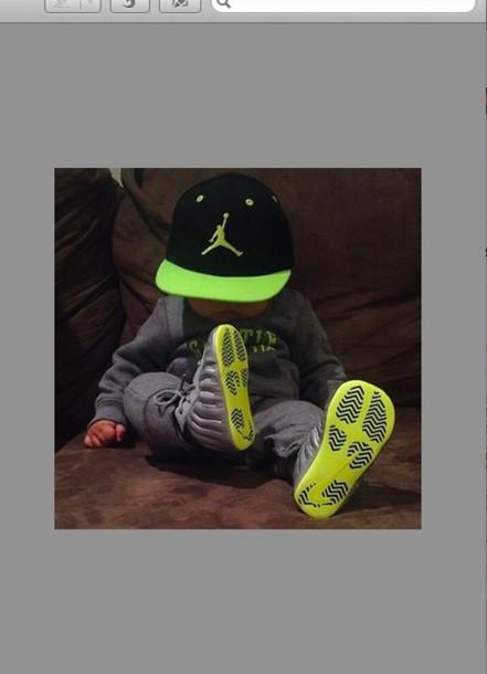 hat green hat jordans