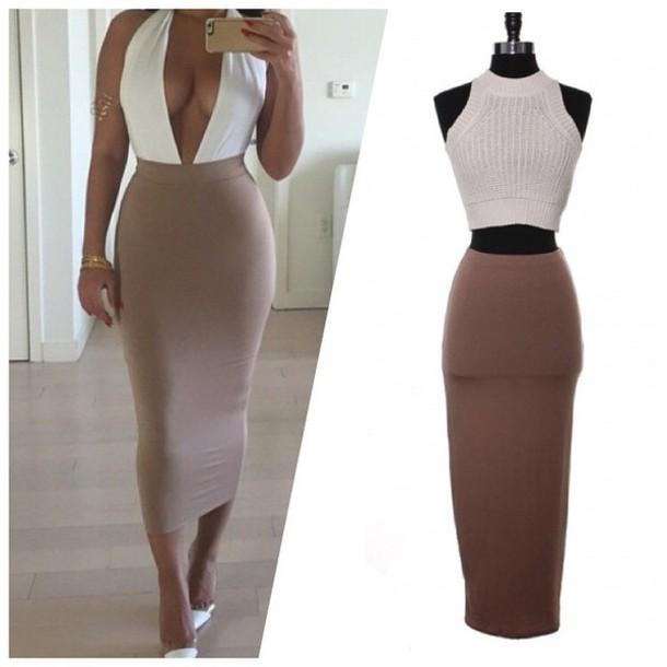 Tube Midi Bodycon Dress