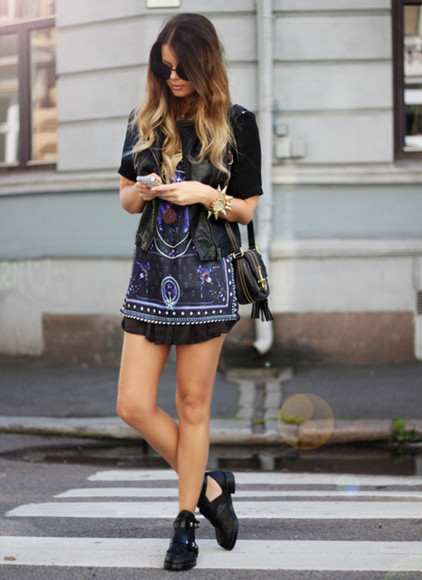 dress indie shoes tumblr straps black boots popular cute girl black shoes summer shoes patterned dress purple little black dress