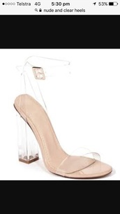shoes,clear,thick heel