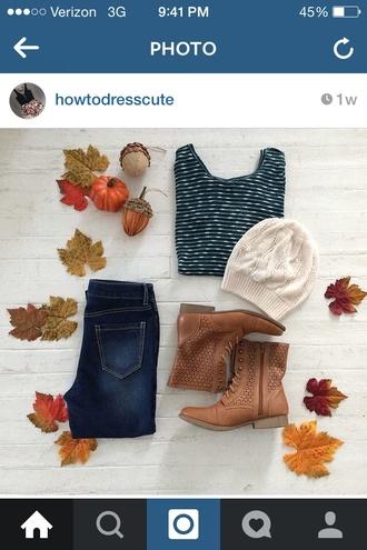 hat headband style fashion beanie shoes blouse