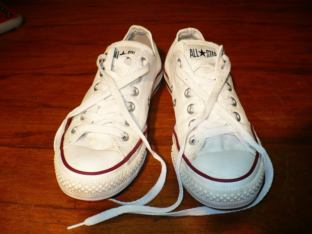 Classic White Low Cuts Converse All Star Chuck Taylors Chucks Sz Mens 5 w 7 | eBay