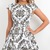 White Cocktail Dress - Black White Skater Foral Paisley | UsTrendy
