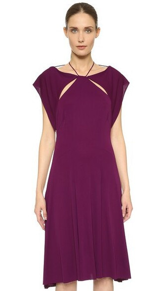 dress jersey dress violet