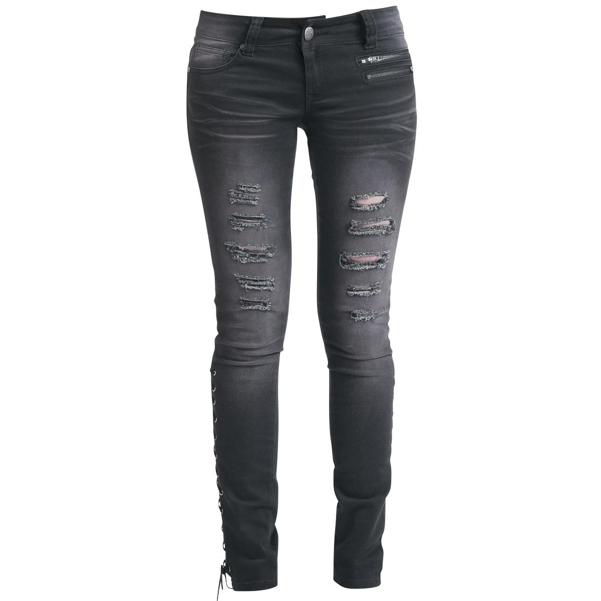 Corded Jeans - Girls jeans by Rock Rebel by EMP - Article Number: 262490 - from 41.99 £ - EMP Mail Order UK Ltd. ::: The Heavy Metal Mailorder ::: Merchandise, Shirts and more!
