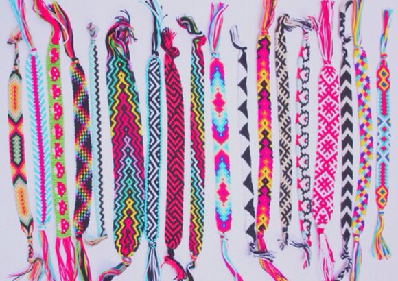jewels colourful bracelets fashion cotton anklets urgent