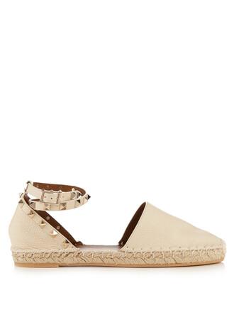 espadrilles leather cream shoes